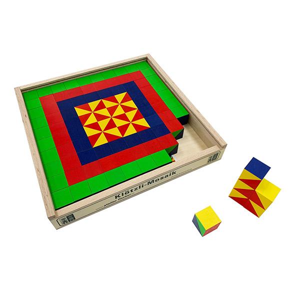 キュービックパズル カラーモザイク 100ピース