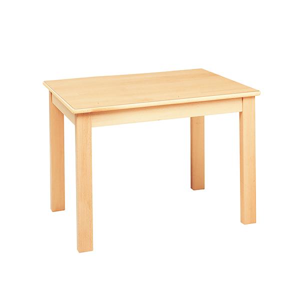 システムテーブル長方形(木目調ラミネート)80 × 60 高さ 46cm 白木