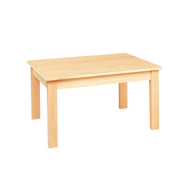 システムテーブル長方形(木目調ラミネート)80×60  高さ46cm 白木