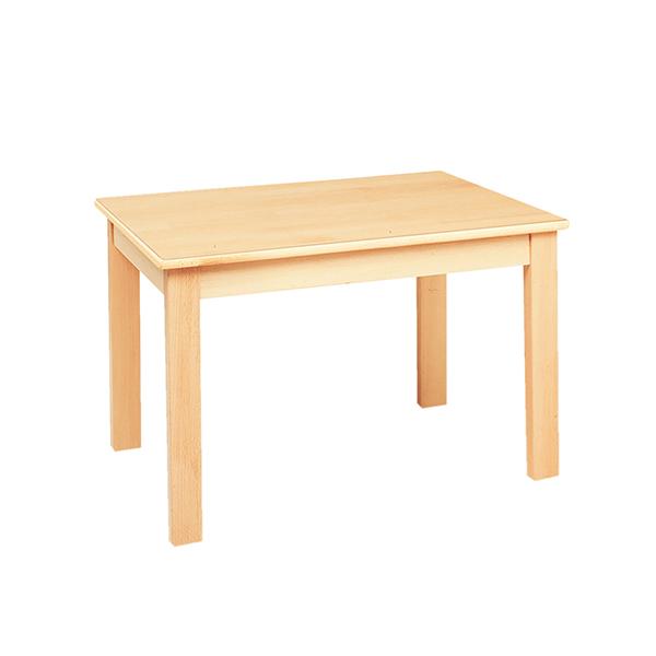 システムテーブル長方形(木目調ラミネート)80 × 60 高さ 53cm 白木
