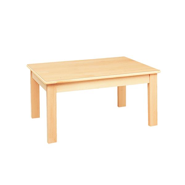 システムテーブル長方形(木目調ラミネート)80 × 60 高さ 40cm 白木