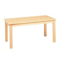 システムテーブル長方形(木目調ラミネート)120×60 高さ 46cm 白木