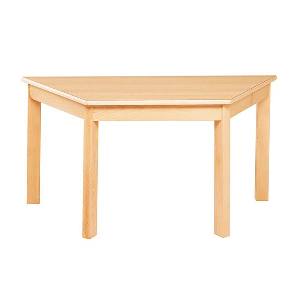 システムテーブル台形(木目調ラミネート)120 × 60 高さ 46cm 白木