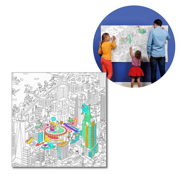 塗って楽しむ OMY ジャイアントポスターXXL(96×180cm) ニューヨーク