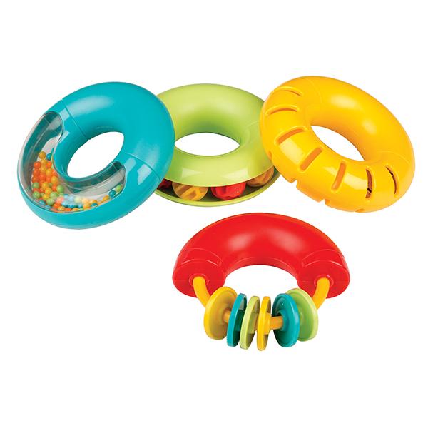 4色の音あそびドーナッツ