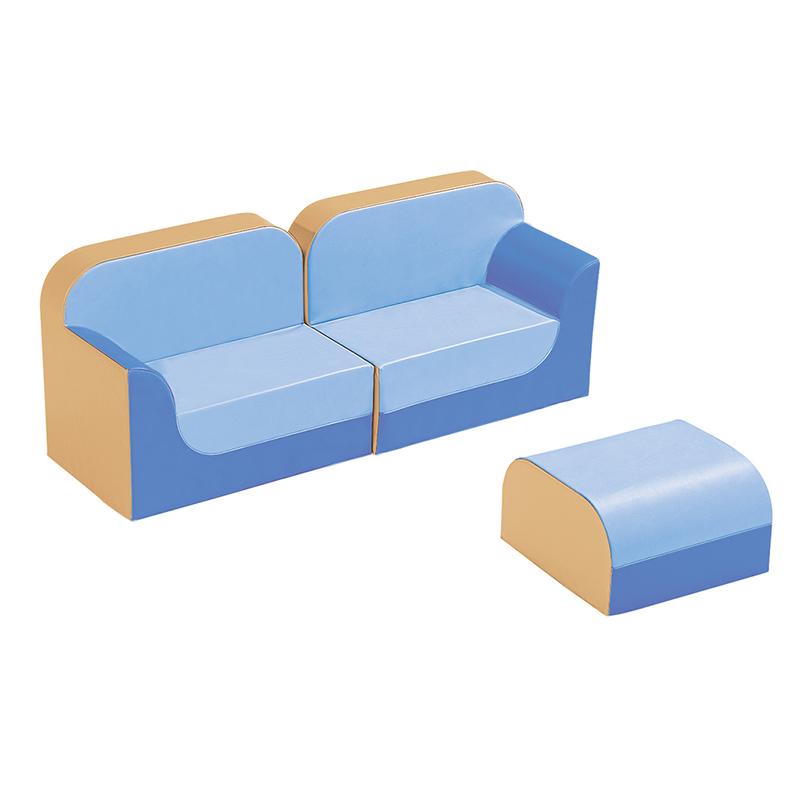 クラブシリーズ・ソファ ラージ ソファキット H=25cm ブルー×ライトブルー