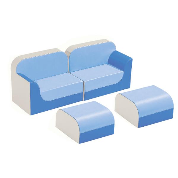クラブシリーズ・ソファ ラージ ソファキット H=25cm ブルー