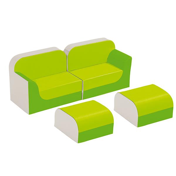 クラブシリーズ・ソファ ラージ ソファキット H=25cm グリーン