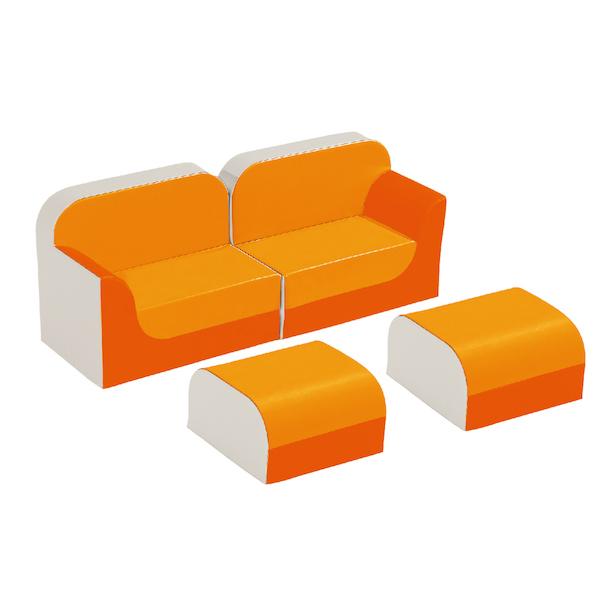 クラブシリーズ・ソファ ラージ ソファキット H=25cmオレンジ
