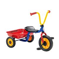 ペリカンデザイン三輪車 Vハンドル カラー(荷台つき)